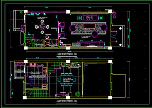 某新中式样板别墅室内装饰设计方案(dwg格式)