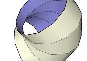 一个PVC墙体构造SU(草图大师)素材模型(2)