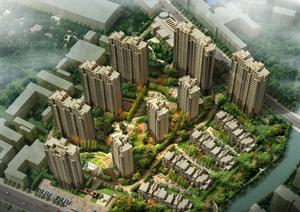 某简欧风格小区建筑景观整体规划方案