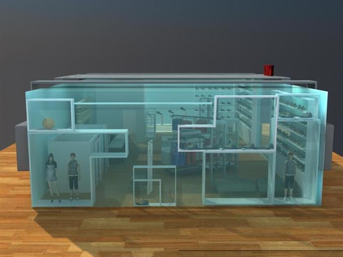 NIKE专卖店设计方案-160平-16张CAD图及4张效果图(6)