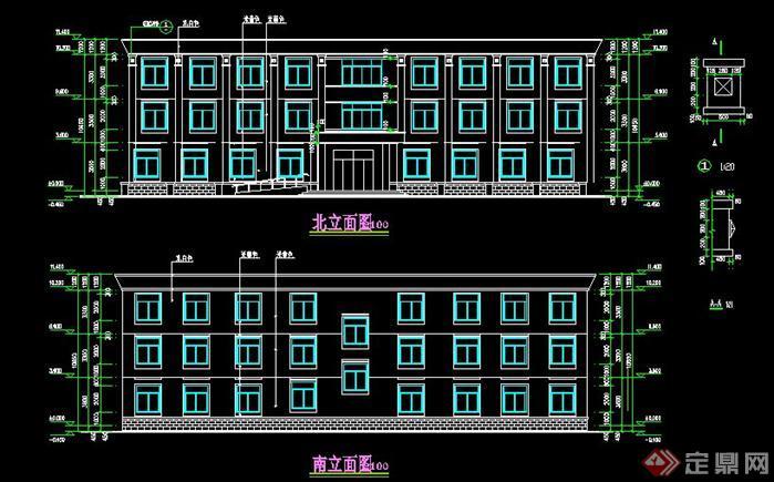 三层办公楼建筑设计方案图(1)