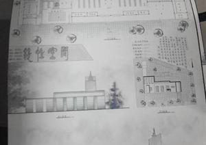 某高校学生客运站建筑快题设计方案