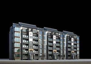 某现代风格居住建筑方案设计3DMAX模型(含效果图)