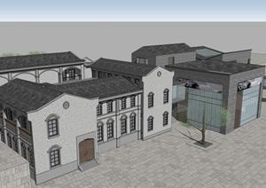 某古典国民风格居住建筑方案设计SU(草图大师)模型