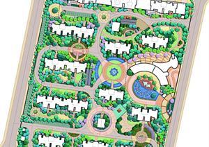 某迁建区住宅景观设计效果图