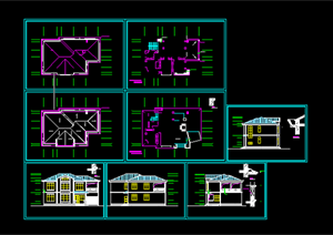 某现代风格居住建筑方案施工图设计CAD