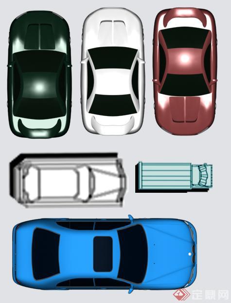一些汽車平面圖PS素材資料