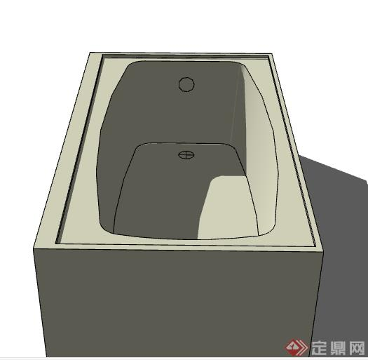 一个浴缸设计的SU模型素材(1)