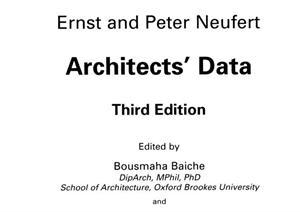《Architects′Data[建筑师的资料]》PDF文件参考资料