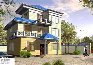某现代风格农村自建别墅建筑设计扩初方案+室内装饰设计图