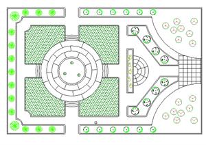 某游园总体景观规划方案