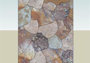 设计素材之石材贴图维模式碎石板设计素材SU(草图大师)模型