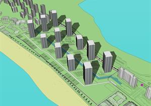 某滨水居住建筑规划设计PPT文本方案