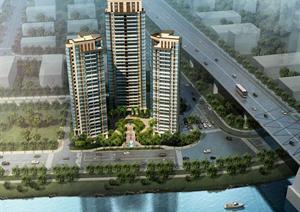 广州某住宅小区规划设计方案(附建筑CAD报建图+效果图)
