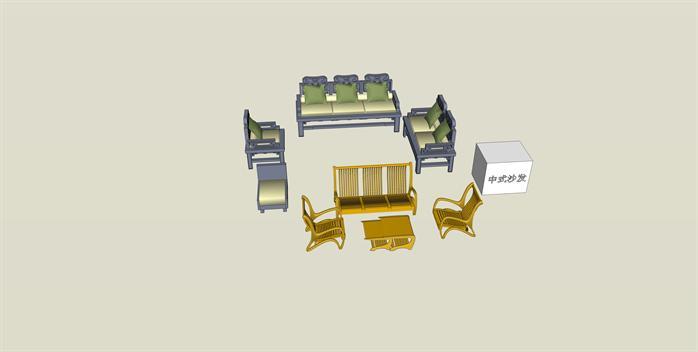 数十套沙发SU模型素材