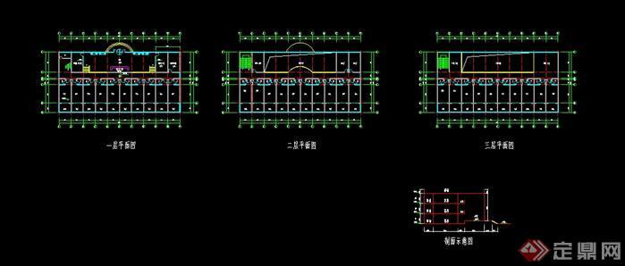 某旅游区游客服务中心建筑设计方案(含效果图)(2)