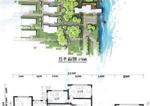 某现代风格别墅建筑手绘设计方案