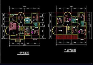某现代中式居住建筑户型设计方案