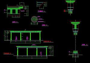 某廊架景观设计施工图