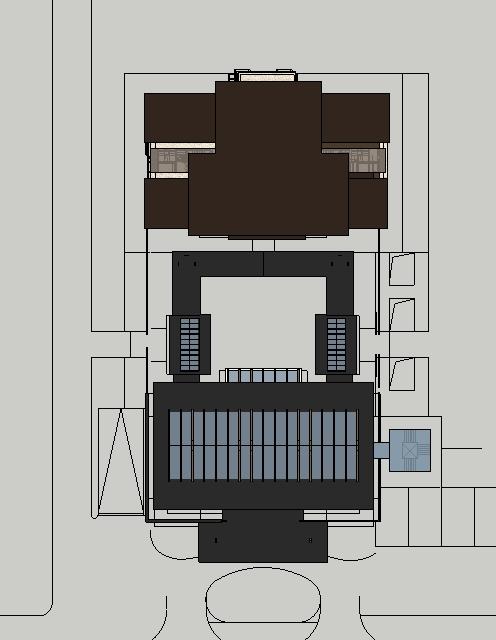 北京某新古典住宅高层、中式会所建筑设计方案SU模型(附CAD平面图、效果图)(1)