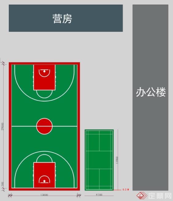 某篮球场设计平面图(1)
