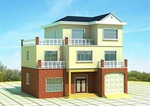 双层独栋别墅设计方案图(含效果图)