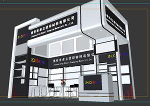 某材料公司展览厅展台设计3DMAX模型素材
