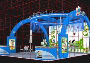 某服装材料展厅设计方案3DMAX模型