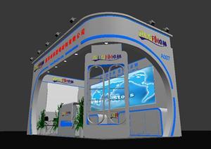 某数码材料展厅设计方案3DMAX模型