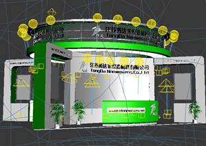 某非织造材料展厅设计方案3DMAX模型