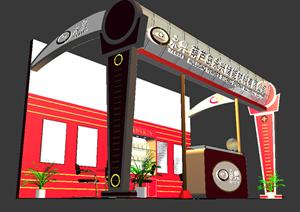 某储能材料展厅设计方案3DMAX模型