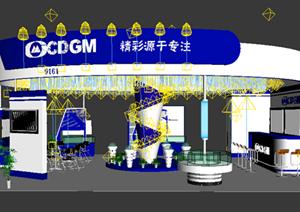 某光电材料展厅设计方案3DMAX模型
