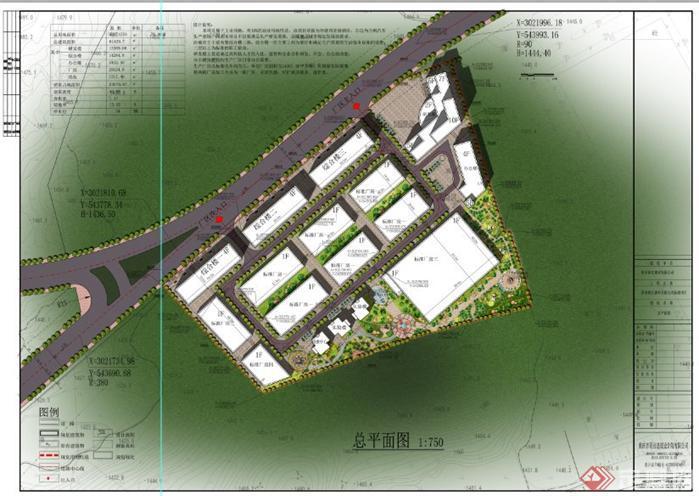 某厂区规划设计总平面图(1)