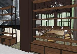 某休闲咖啡吧装潢设计SU(草图大师)模型