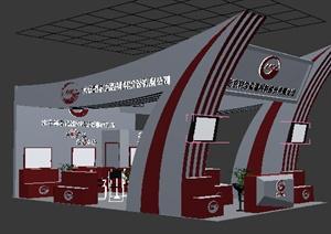 某高温材料展厅设计方案3DMAX模型