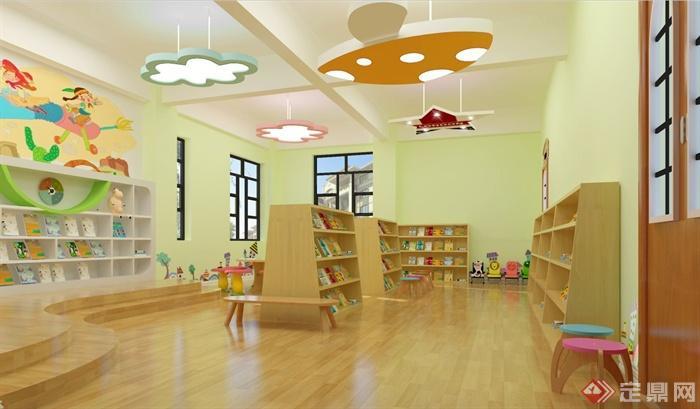 某幼儿园图书室装饰设计SU模型(1)
