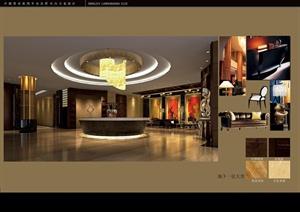 某娱乐会所室内装饰方案(含施工图+效果图)