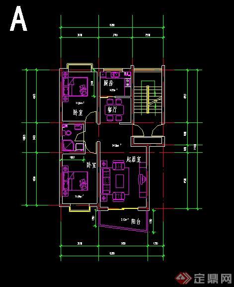 一梯一戶、一梯兩戶住宅戶型平面圖(2)