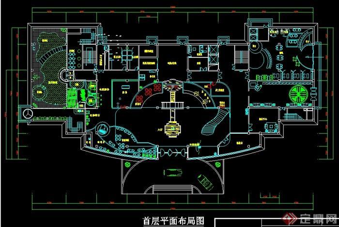 某现代酒店平面设计图(1)