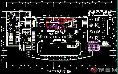 某现代酒店平面设计图(4)