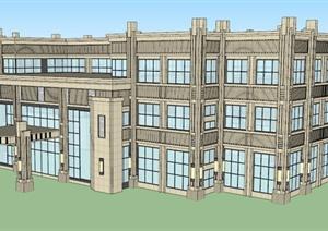 两个欧式会所建筑SU(草图大师)模型