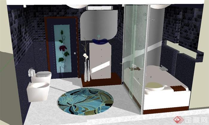 某卫生间装饰设计SU模型(1)