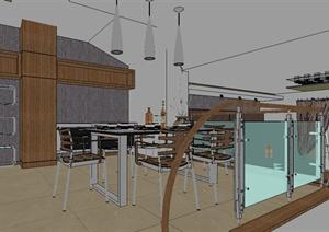 某居住空间客厅设计SU(草图大师)模型素材
