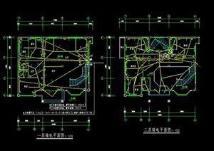 某别墅建筑设计电气平面图