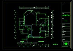 两栋别墅建筑设计电气平面图