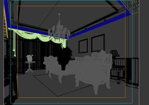 某居住空间餐厅设计3DMAX模型