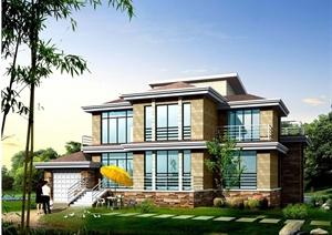 某两层别墅建筑设计方案(dwg格式)
