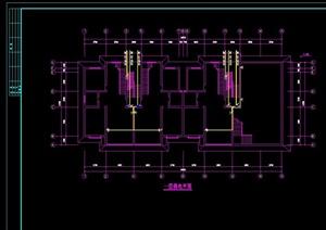 某五层住宅建筑设计电气图