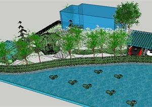 园林景观之庭院花园设计方案SU(草图大师)模型8