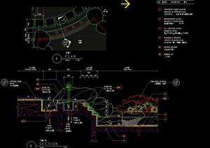 园林驳坎景观设计施工图1